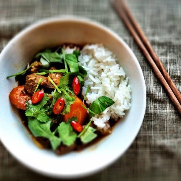Curried Beef Stew w Jasmine rice | Toast | Pinterest