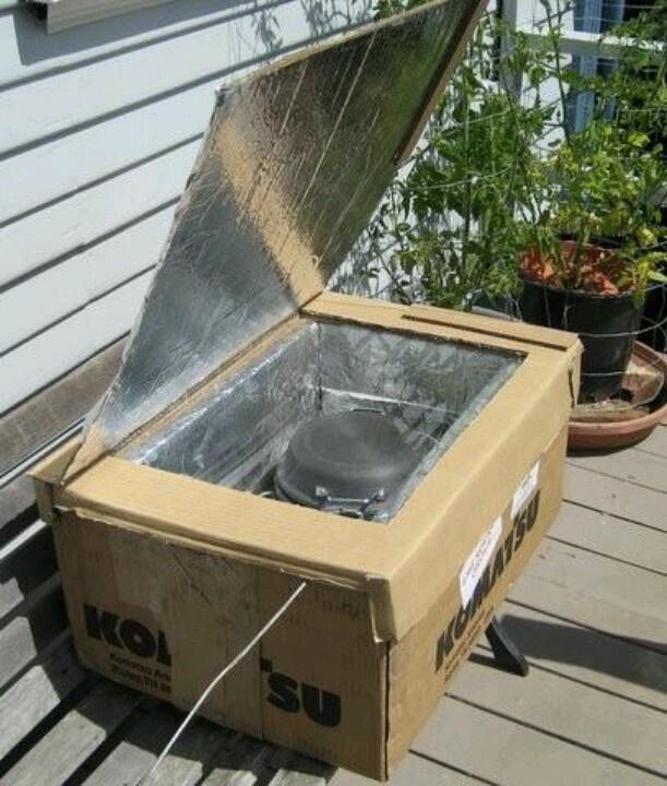 A homemade solar oven preparedness pinterest for Diy cooking stove