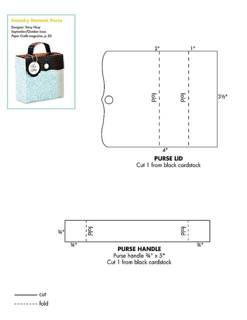 Free Purse Patterns To Download : Free purse pattern download Patterns for Cards, Card Bases, Boxes ...