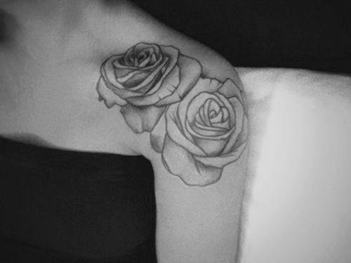 rose shoulder tattoo my style pinterest. Black Bedroom Furniture Sets. Home Design Ideas