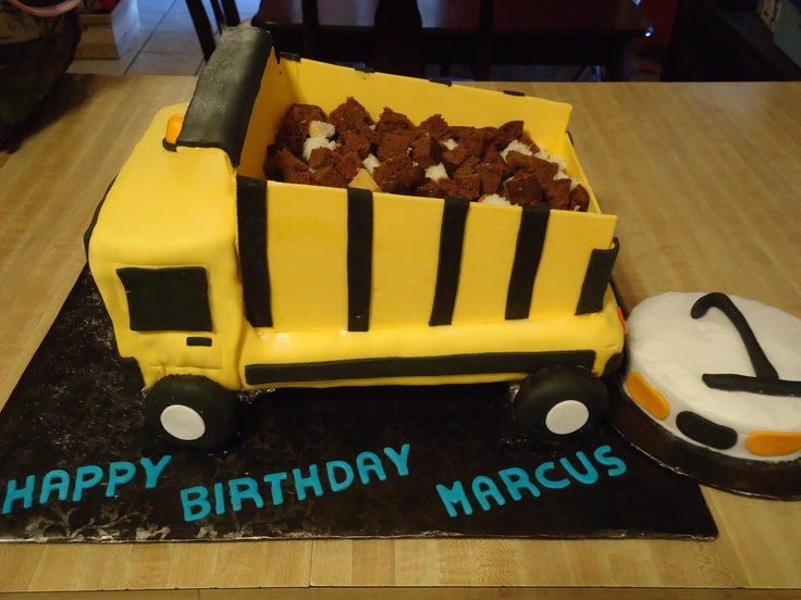 Dump Truck Birthday Cake Birthday Cake Ideas... Pinterest