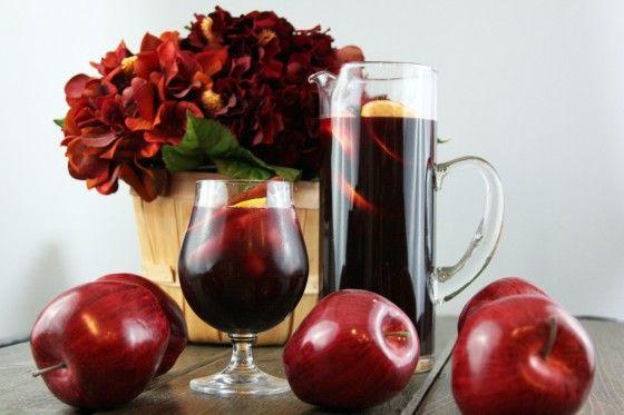 Spiced Apple Cider Sangria | Recipe
