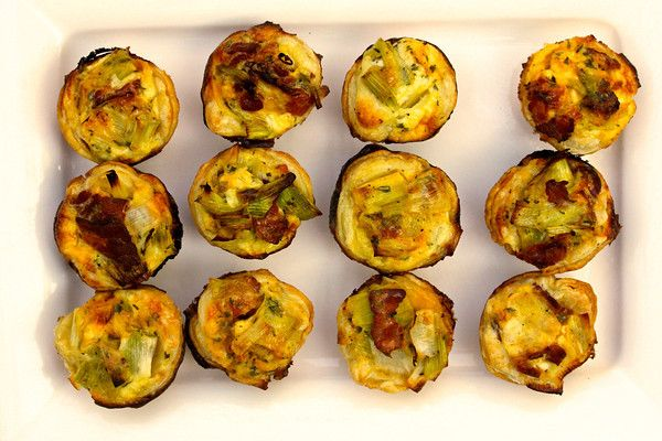 Bacon, Leek, and Cheddar Mini Quiches | Great Recipes, Not Fabulous P ...