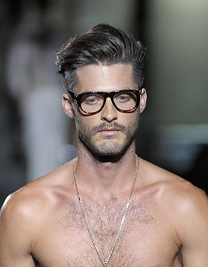 Hairstyles For Glasses Male : messy side parted top with volume is always a winner. The picture ...