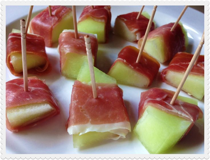 Prosciutto Wrapped Honeydew Melon Appetizer
