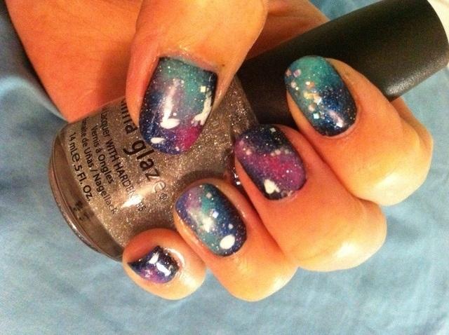 galaxy nails   Nägel   Pinterest