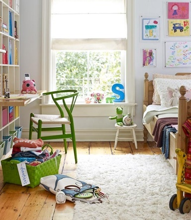wishbone chair for kids room