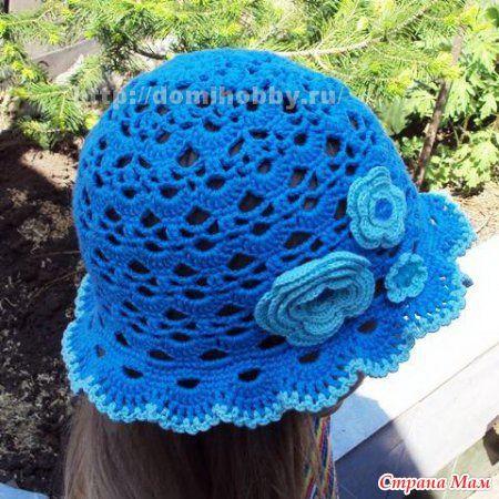 Blue Panama Hat free crochet graph pattern crochet ...