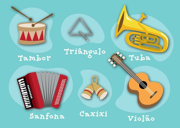 Cartela do Bingo Sonoro | Bingo Sonoro Instrumentos Musicais | Pinter ...