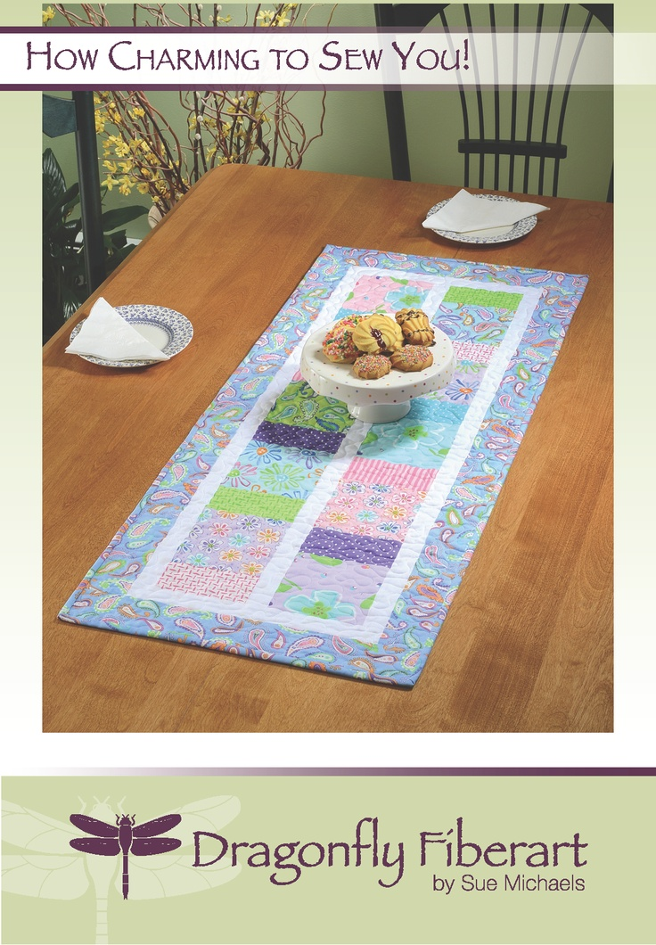michaels  squares quilted You Sew table table Charming runners with charm How made runner to