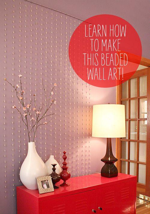 make #beaded #wall #art