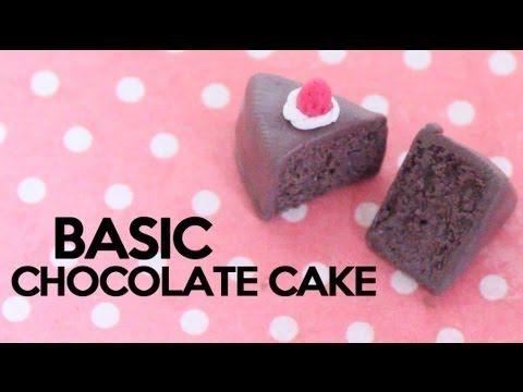Basic Chocolate Cake | Fimo. | Pinterest