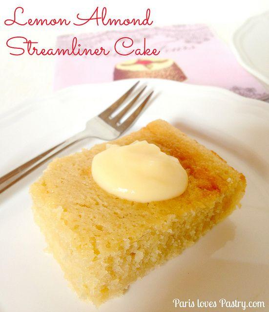 Almond Lemon Streamliner Cake | Cakes cakes and more cakes | Pinterest