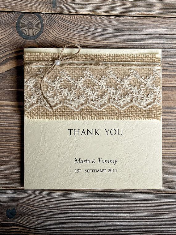 custom listing for william 18 wedding thank you cards rustic thank