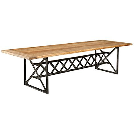 Iron Base Dining Table (6ft) | Furniture | Pinterest