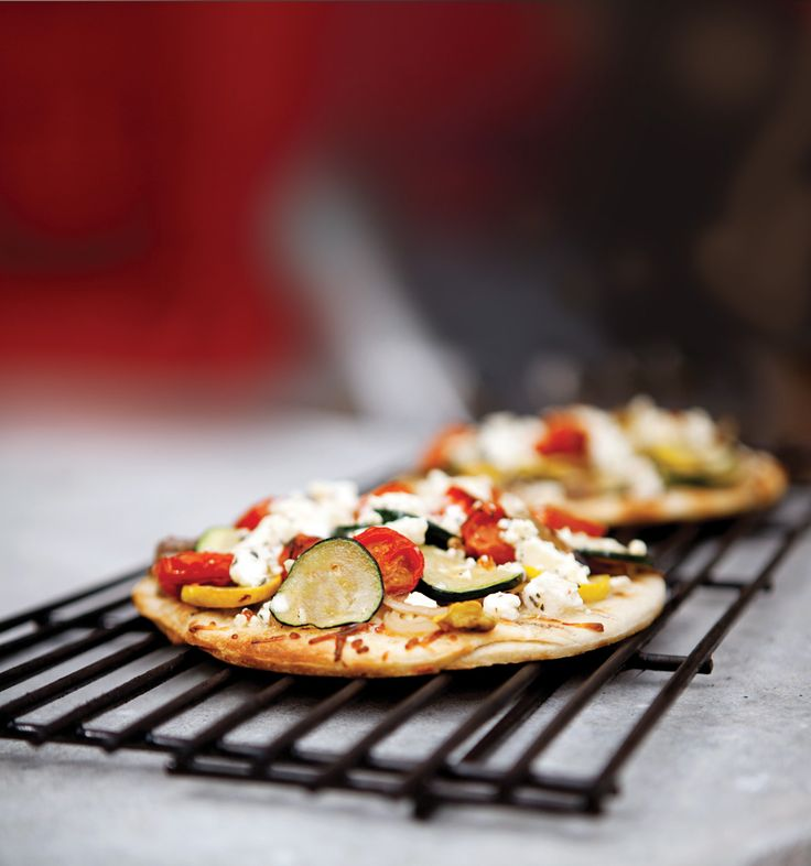 Grilled Veggie Pizza Recipe | To cook | Pinterest