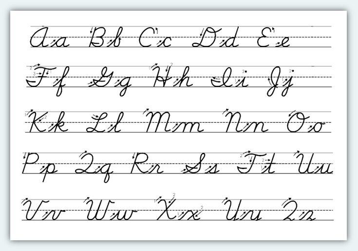 Common Worksheets » Cursive Letters Chart Printable - Preschool ...