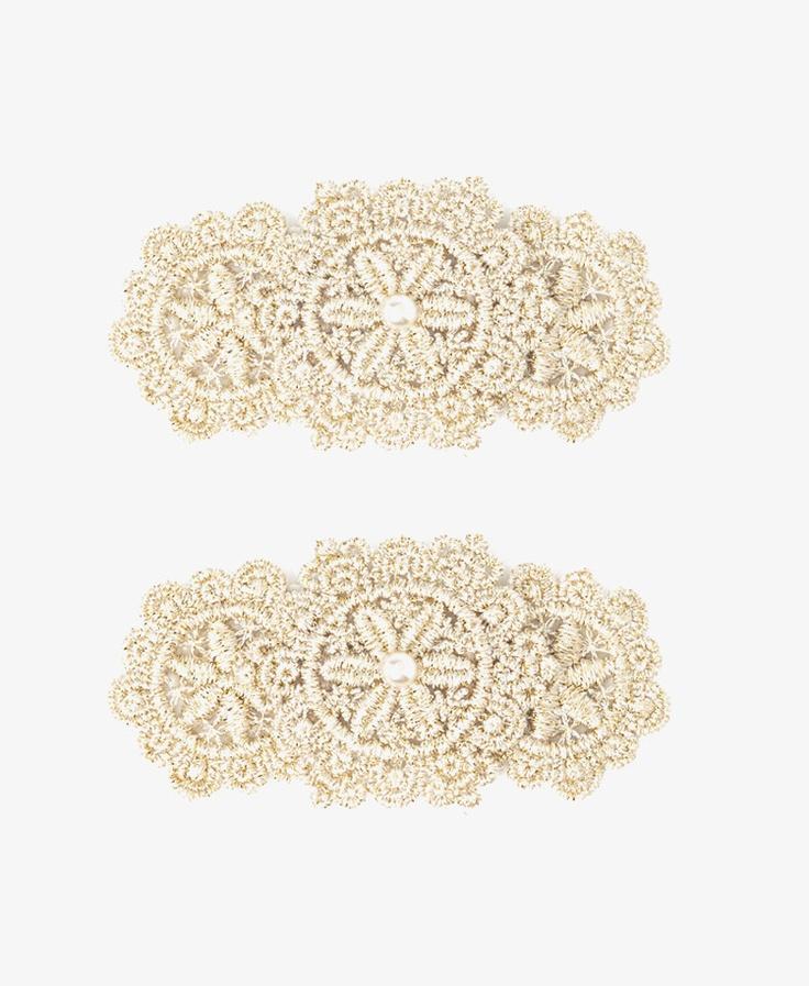 Crochet Hair Clips Pinterest : Metallic Crochet Hair Clips Crochet Pinterest