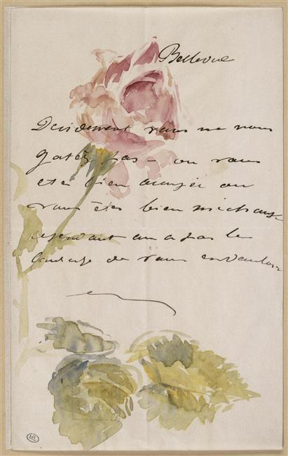 Edouard Manet - Letter to Isabelle Lemonnier (1880) - Musée d'Orsay, Paris