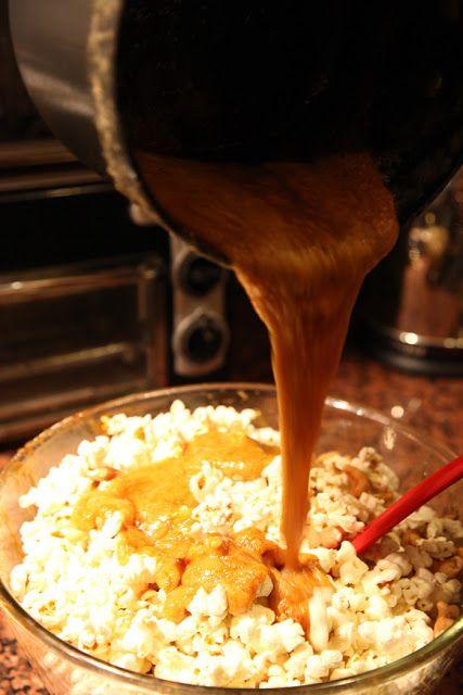 Orange Cashew Caramel Corn