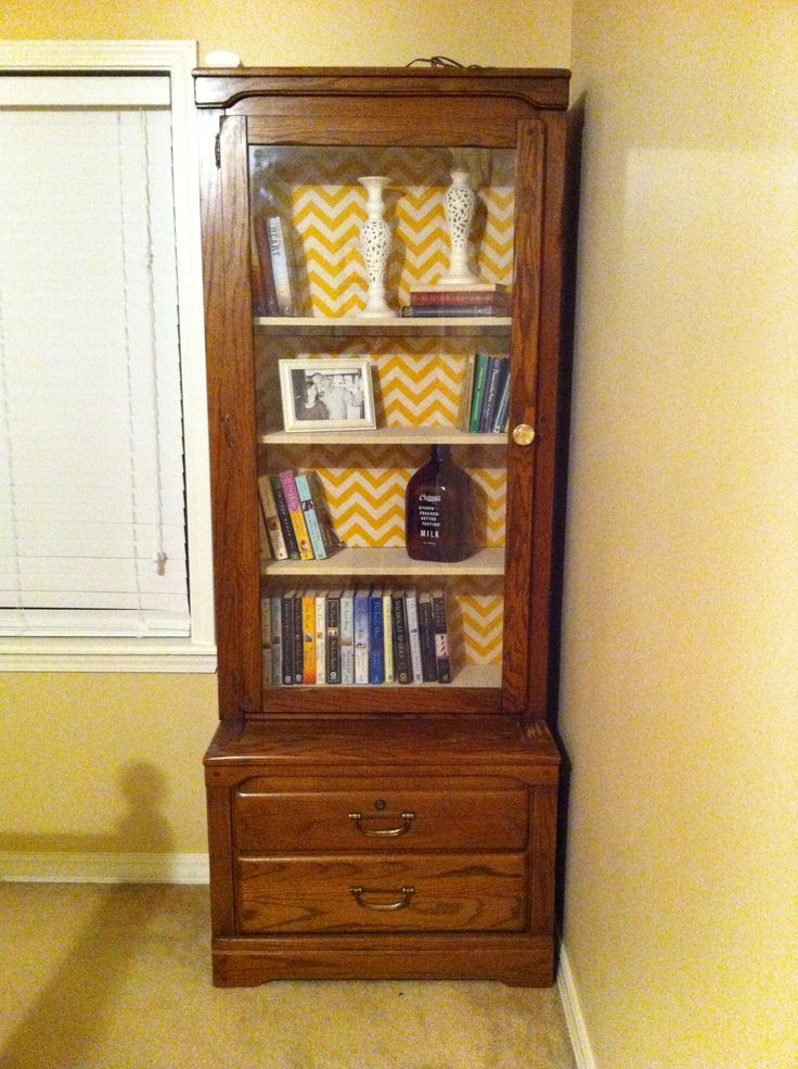 Old gun cabinet turned into a bookshelf! | Home Sweet Home | Pinterest