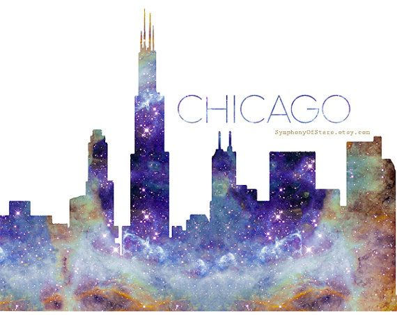 chicago skyline art - photo #24