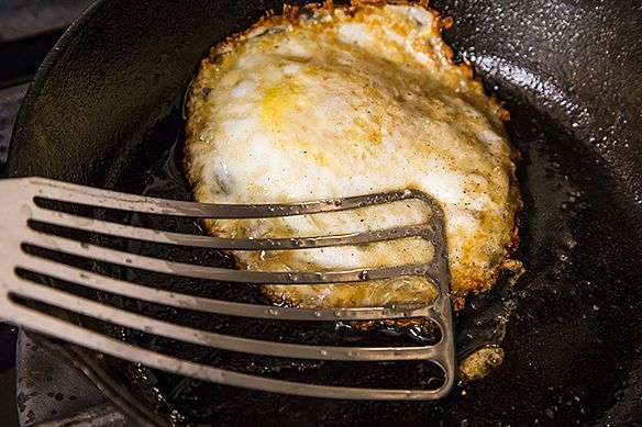 Several methods for making the perfect fried egg.