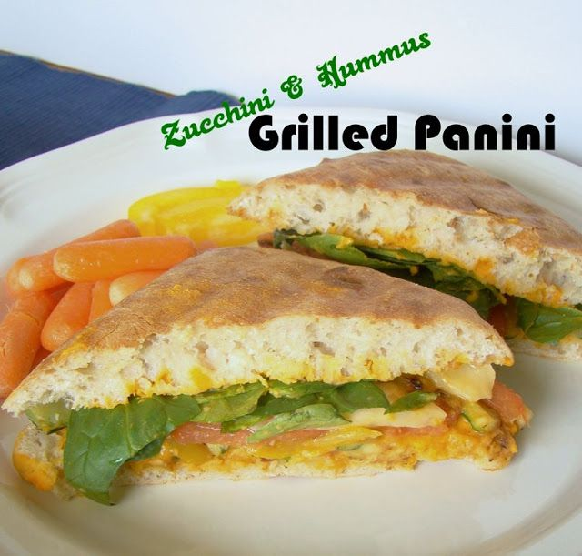 Zucchini and Hummus Grilled Panini | Yummy!! (Food and Drink Ideas ...