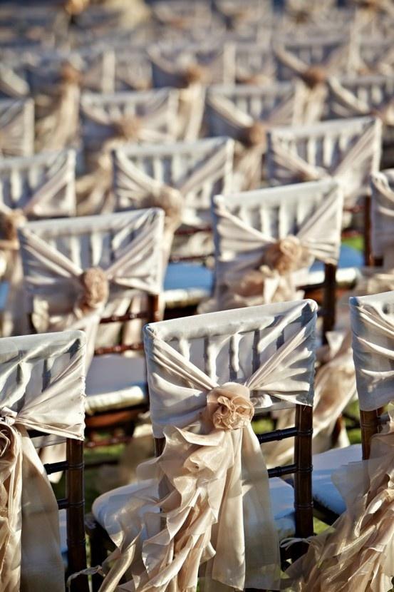 Wedding party chair covers amp decor beach wedding pinterest