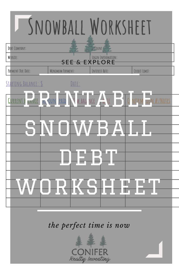 Debt payoff worksheet