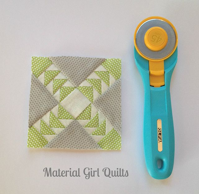 Tiny block by Material Girl Quilts, via Flickr