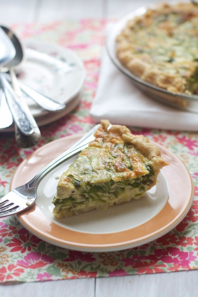 Spring Asparagus Quiche with Leeks and Gruyere