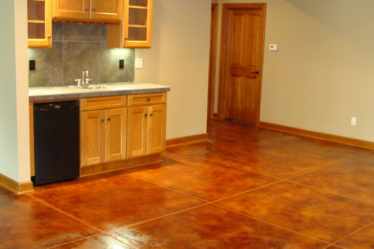 concrete basement floor looks like tile how to make concrete look