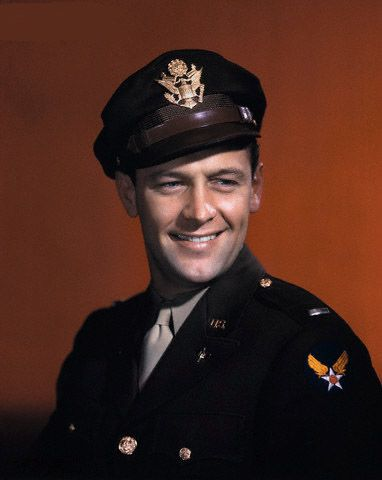 William Holden in U.S. Army Air Forces uniform during his World War II military service