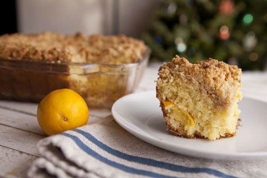 Meyer Lemon Coffee Cake. Tart and sweet!