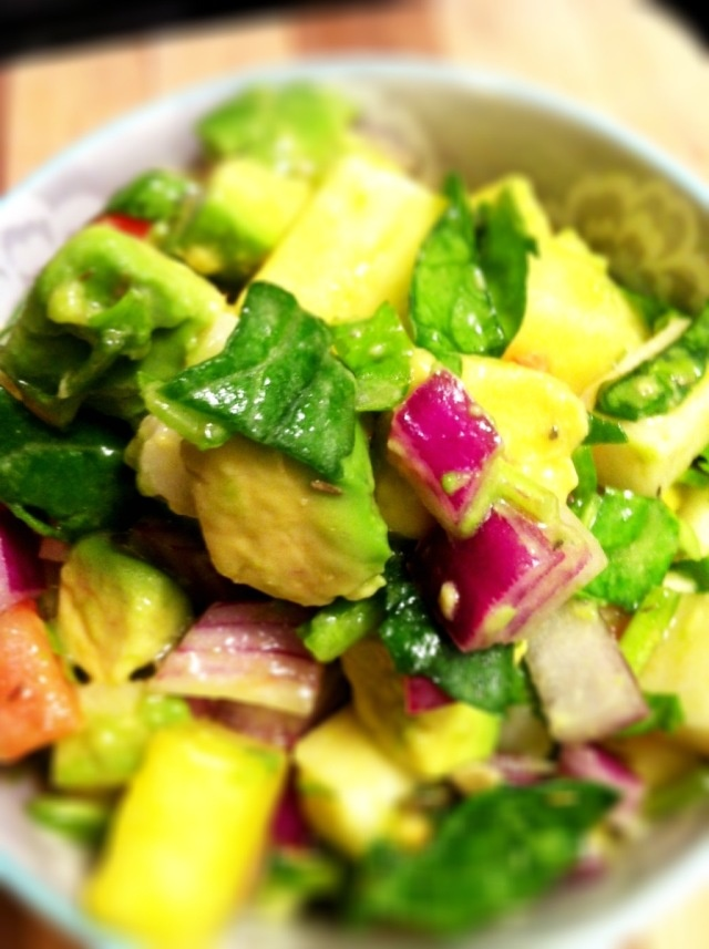 Simply Raw Life: TROPICAL CHOPPED SALAD WITH PINAPPLES AND AVOCADOS