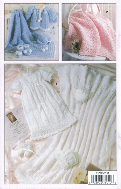 Free Baby Layette Knitting Patterns : Layettes Baby Knit & Crochet Pattern Book A5