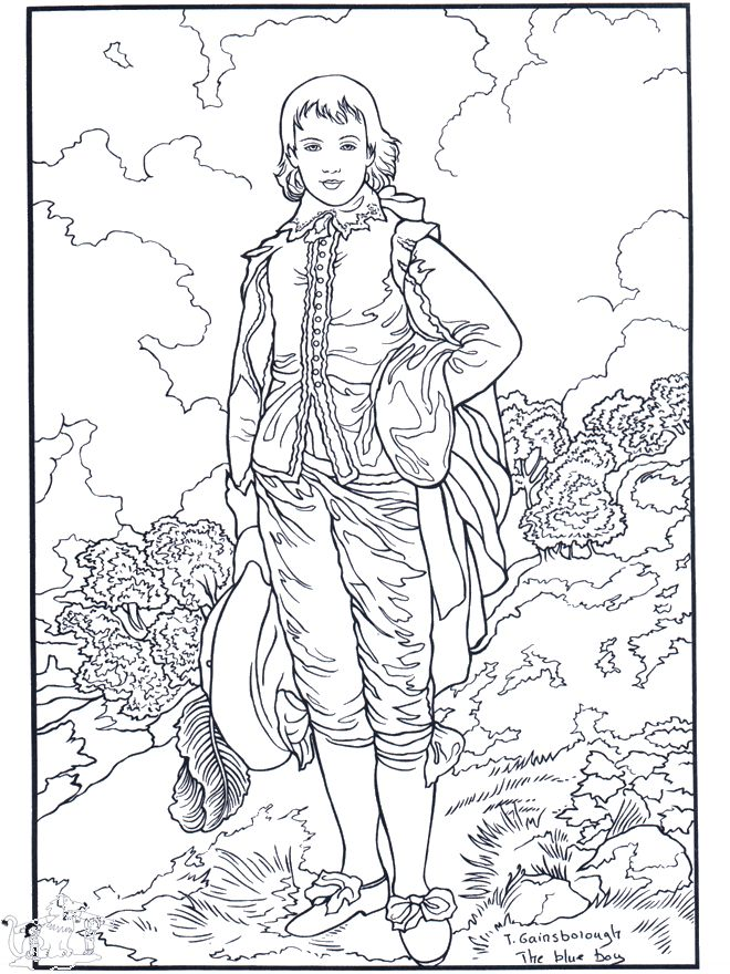 Famous Works of Art Coloring Pages