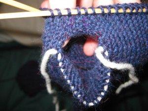 Knitting at KNoon Designs - Free Fingerless Mitten Pattern