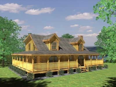 Wrap Around Porch Cabin Homes Mountain And Cabins