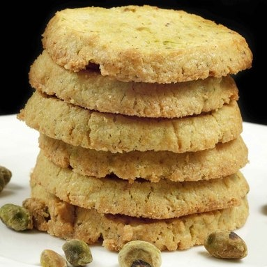 Pistachio Corn Meal Butter Cookies | Cookies~Brownies~Bars | Pinterest
