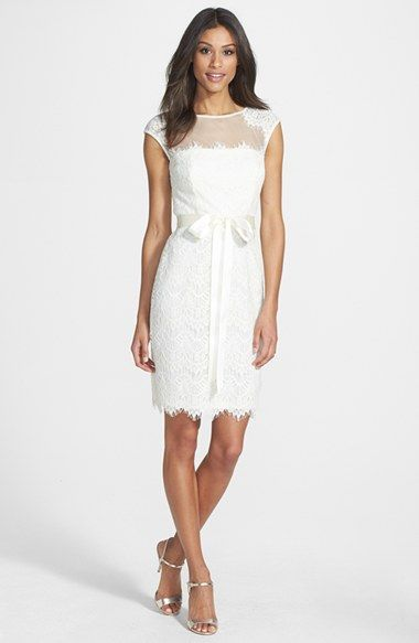 Xscape Cap Sleeve Lace Dress available at #Nordstrom More formal but ...