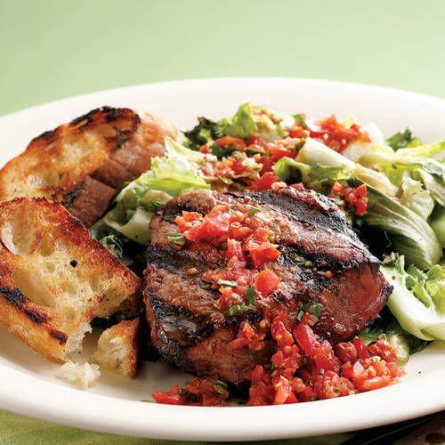 grilled beef tenderloin amp escarole from recipe rehab