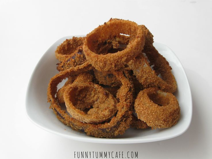 Low Fat Baked Onion Rings | Tea Time Snacks | Pinterest