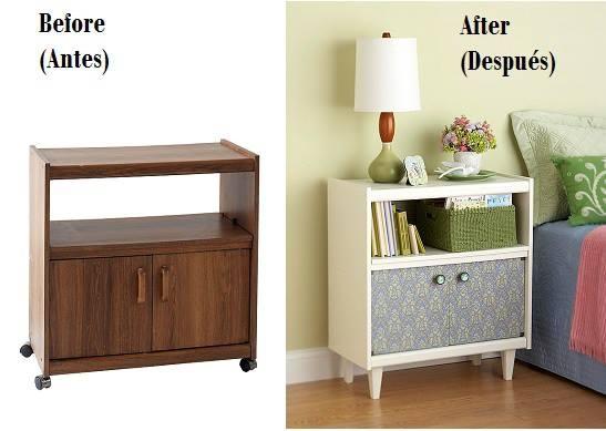 Ejemplos del antes y despu s de restaurar los muebles - Restaurar mueble madera ...