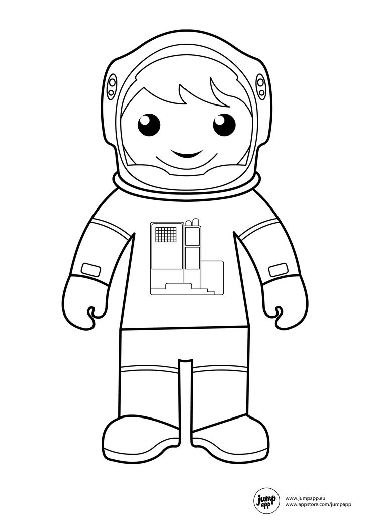 astronaut suit coloring sheet - photo #15