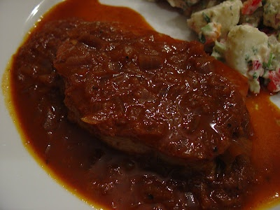 Rachael Ray's Pork Chops in a Sweet Chili Sauce with Creamy Cilantro ...