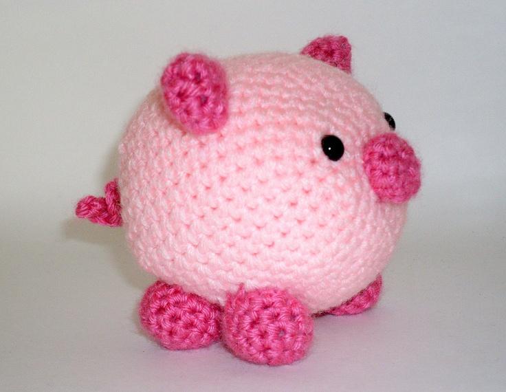 Crocheting Stuffed Animals : Crochet Animals Pig Amigurumi Crochet Stuffed Animal Pink by ...