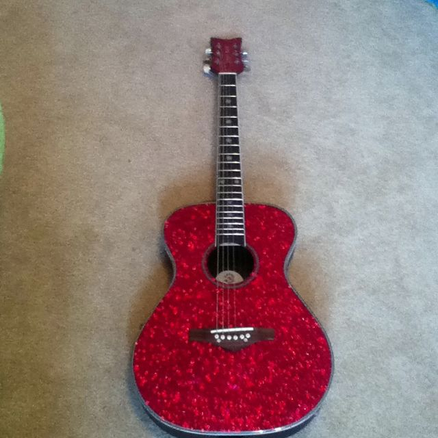 My new acoustic hot pink guitar! | My Favorite Things ...