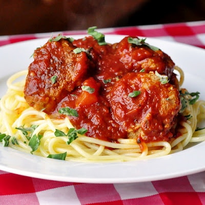 Spaghetti and Turkey Meatballs | breads, casseroles and other food id ...